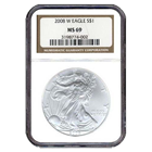 2008-W Burnished Silver Eagle NGC MS69