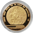 1985 Mexico 250 Peso Proof Gold World Cup Coin (.250 oz of Gold)