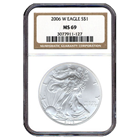 2006-W American Silver Eagle NGC MS69 (Burnished)