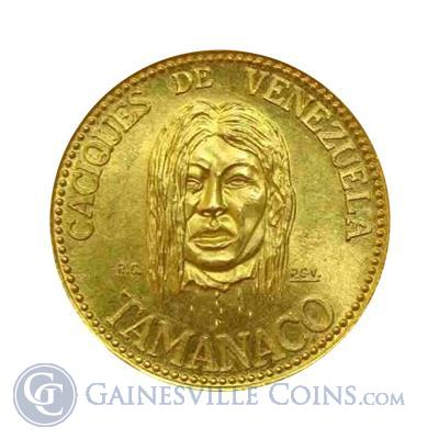 Venezuela Cacique Tamanaco Gold Coin  (.1736 oz of Gold)