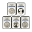 2011 25th Anniversary Silver Eagle 5 Coin Set MS70/ PF70 Early Release