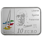 2010 10 Euro Silver Series of French Painters Pablo Picasso Box and Cert (.434 oz of silver)