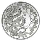 2012 10 Euro Silver Year of the Dragon Includes Box and Cert (.6423 oz of silver)