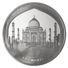 2010 10 Euro Silver Proof UNESCO The Taj Mahal Includes Box and Cert (.6423 oz of silver)