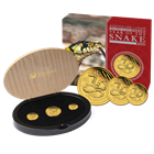 2013 3 Coin Proof Gold Australian Lunar Year of the Snake Set - Mintage of ONLY 3,000 Sets! (1.35 oz of Gold)