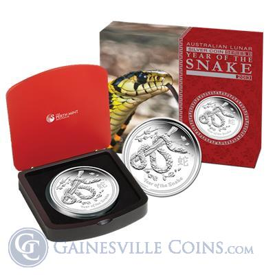 2013 Perth Mint 1 Kilo Proof Silver Lunar Year of the Snake Coin