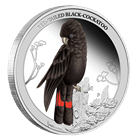 2013 Australian 1/2 oz Silver Red Tailed Black Cockatoo