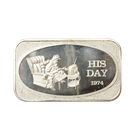 1974 His Day 1 oz Silver Art Bar (United States Silver Corporation) .999 Pure
