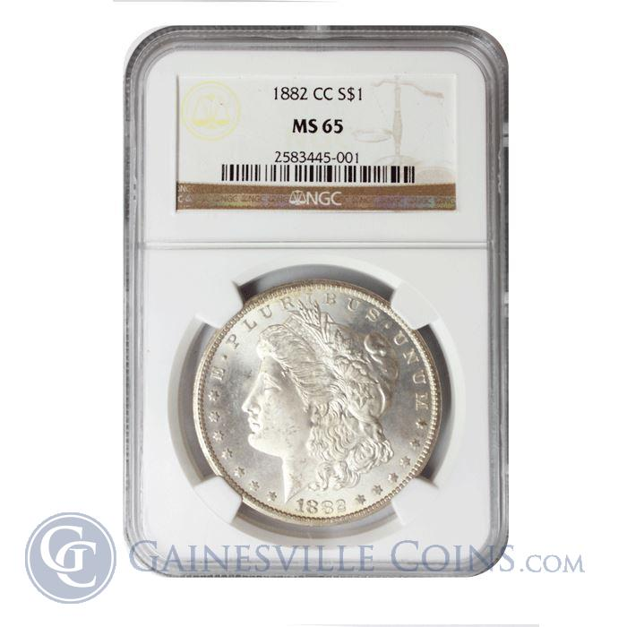 Image Showcase for 1882-CC Morgan Silver Dollar NGC MS65