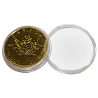 Plastic Coin Capsule (Fits 1 oz Canadian Gold Maple Leaf)