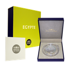 2012 50 Euro 5 oz Enameled Silver Proof UNESCO Egyptian Heritage  Includes Box and Cert  Mintage of 500