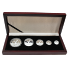 2010 1.9 oz Proof Silver Libertad 5-Coin Set (In Wood Display Box)