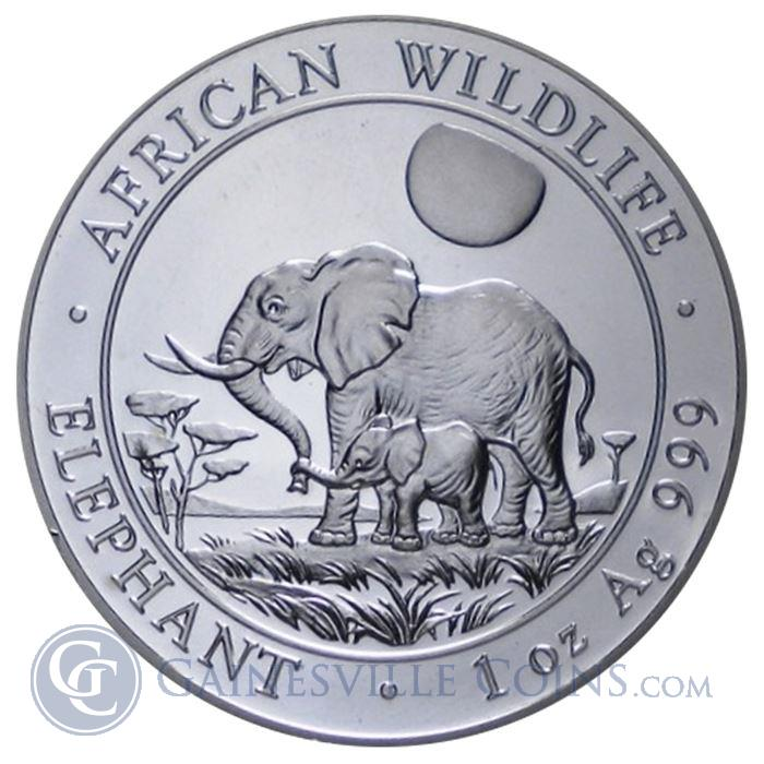 Image Showcase for 2011 1 oz Silver Somalian African Elephant (.999 Pure)