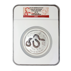 2013 Australia 10 oz Silver Lunar Year of the Snake NGC MS70 Early Release (Series 2)