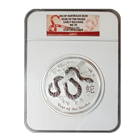 2013 1 Kilo Silver Australian Lunar Year of the Snake NGC MS70 Early Release (32.15 oz)