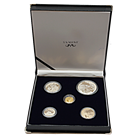 2002 South Africa Wildlife Series Proof Silver Elephant 4-Coin Set With 1996 1/4 Proof Gold Natura