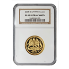 2008 1/2 oz Proof Gold Angel Isle of Man NGC PF69 Ultra Cameo