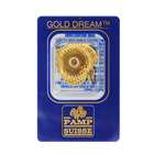 2.5 Gram PAMP Suisse Hologram Heart Gold Pendant - Gold Dream (.9999 Pure in Assay Card)