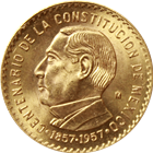 1957 Mexico Gold Medal Constitution Centennial (.2411 oz of Gold)