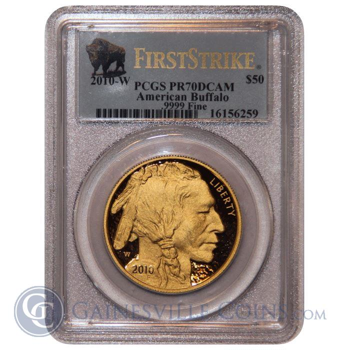 Image Showcase for 2010-W 1 oz American Proof Gold Buffalo PCGS PR70 DCAM (First Strike)
