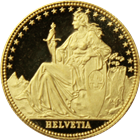1986 1/10 oz Switzerland Proof Gold Helvetia