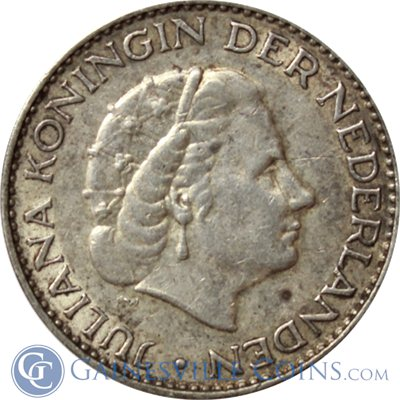 Netherlands 1 Gulden Silver Coin (.1505 oz of Silver)