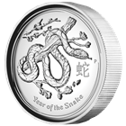 2013 1 oz Proof Silver Australian High Relief Year of the Snake