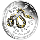 2013 Australian Year of the Snake - 1 oz Colorized Proof Silver Coin