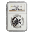 2012 1/2 oz Silver $1 Fiji Taku NGC MS69 .999 Fine (New Zealand Mint)