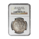 1891 CC TOP-100 VAM-3 Spitting Eagle Morgan Silver Dollar NGC XF 40