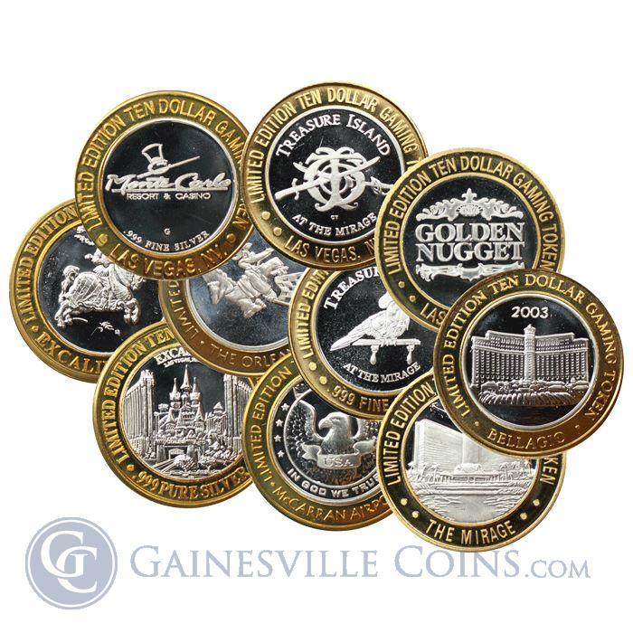 Image Showcase for Limited Edition Ten Dollar Gaming Token .999 Fine Silver (Random Design)
