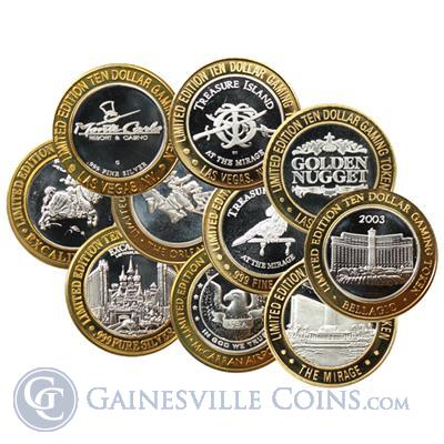 Limited Edition Ten Dollar Gaming Token 999 Fine Silver