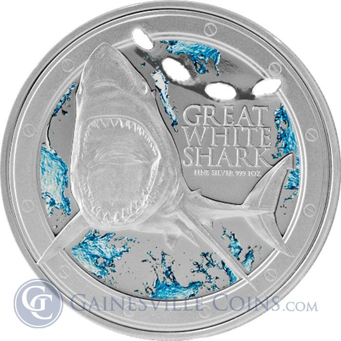 Image Showcase for 2012 1 oz Silver Great White Shark - New Zealand Mint (With Box and COA)