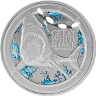 2012 1 oz Silver Great White Shark - New Zealand Mint (With Box and COA)