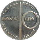 1972 Israel 10 Lirot Silver Coin - 24th Anniversary of Independence (.7523 oz of Silver)