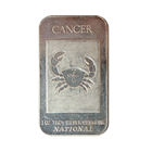 1oz Silver Art Bar - Cancer Zodiac Series .999 (National Mint)