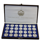 1976 Canadian Olympic Complete 28-Coin Silver Set - With Original Box  (30.31 oz of silver)