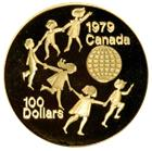 1979 1/2 oz Proof Gold Canadian Coin (UNICEF - Year of the Child)