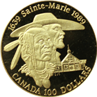 1989 Canadian $100 Proof Gold - Sainte-Marie (With Box and COA)