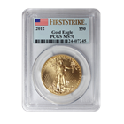 2012 1 oz American Gold Eagle PCGS MS70 First Strike