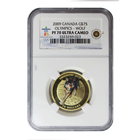 2009 Canadian $75 Proof Gold Wolf NGC PF70 Ultra Cameo (Vancouver Olympics)