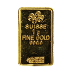 1 Gram Gold Bar - Pamp Suisse (.9999 Pure)
