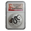 2013 1 oz Silver Australian Lunar Year of the Snake NGC MS70 Early Release