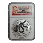 2013 1 oz Silver Australian Lunar Year of the Snake NGC MS69 Early Release