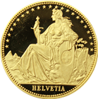 1987 Switzerland 1/2 oz Proof Gold Helvetia
