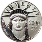 2000 1 oz Platinum American Eagle
