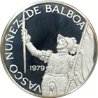 1977-1979 Panama 20 Balboa Proof Silver Vasco Nunez Coin - Random Date (3.85 oz of Silver)