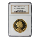 2006 1 oz Proof Gold Angel Isle of Man NGC PF69 Ultra Cameo