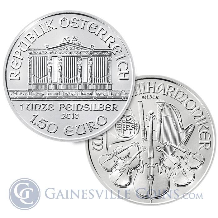 Image Showcase for 2013 1 oz Austrian Philharmonic Silver Coins .999 Fine