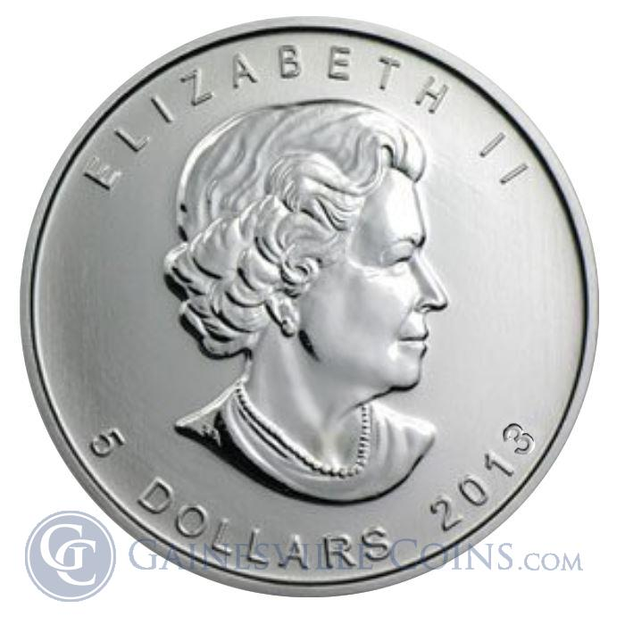 Image Showcase for 2013 Canadian Silver Maple Leaf 1 oz Coin (Brilliant Uncirculated)